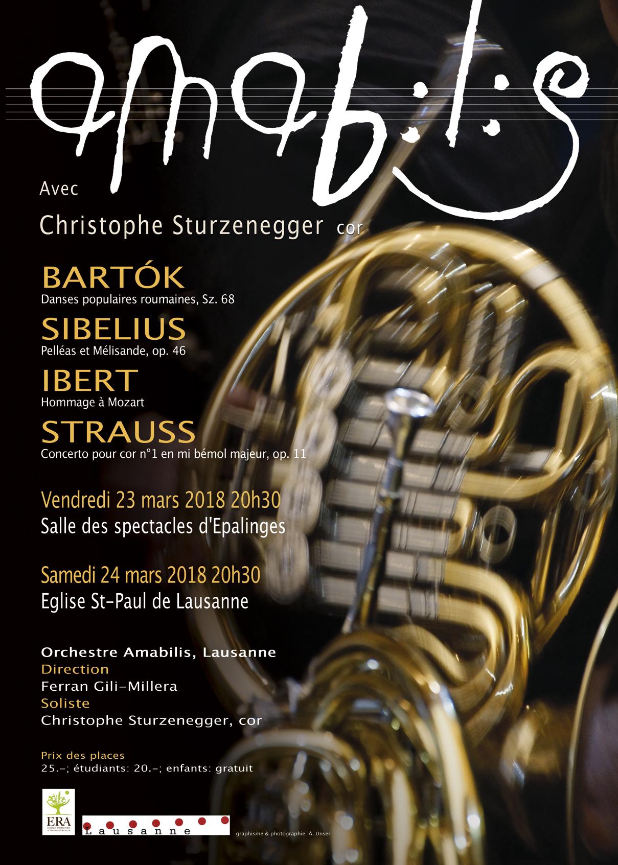 Amabilis joue Bartók, Sibelius, Ibert et Strauss